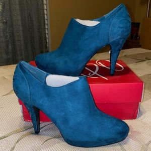 Impo Teal Faux Suede Bootie